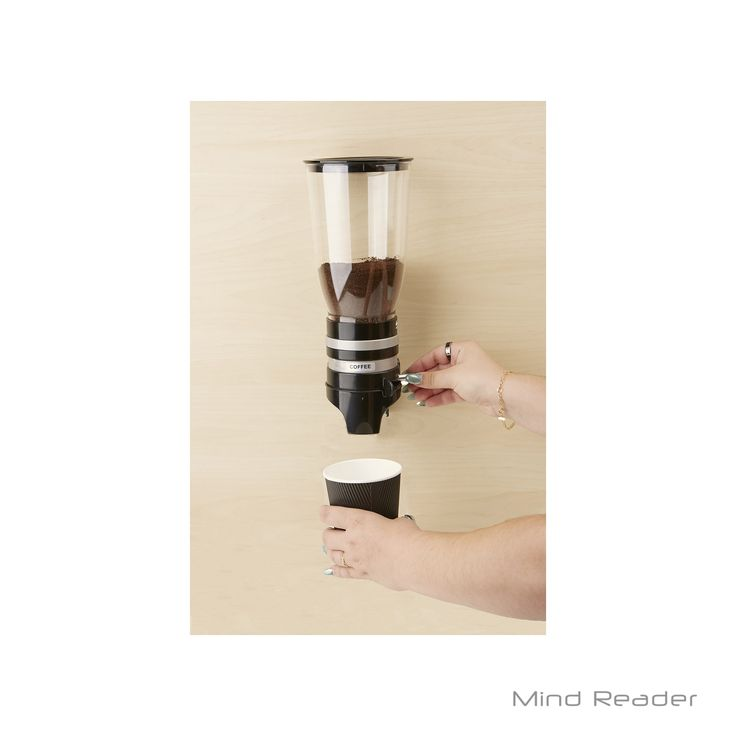 Mindreader Mind Reader Metal Single Wall Mounted Coffee Dispenser (Black)