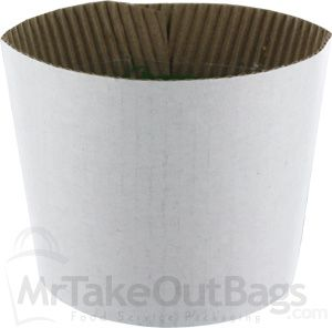 White Coffee Clutch Sleeves (FITS 10,12,16,20 oz) (1200 / case)