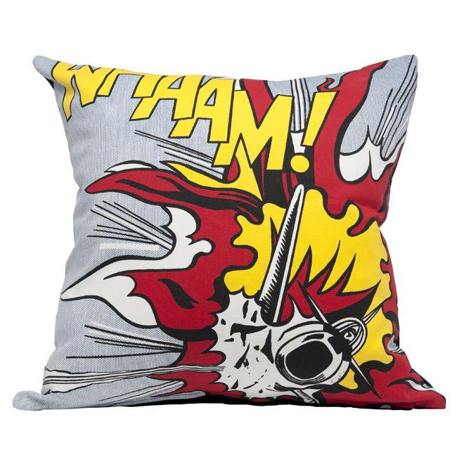 Lichtenstein Whaam! explosion   Cushion covers   Tate Shop