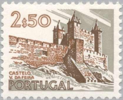 Sello: Vila da Feira Castle (Portugal) (Landscapes and Monuments) Mi:PT 1213xI,Sn:PT 1127,Yt:PT 1193,Sg:PT 1449,Afi:PT 1133