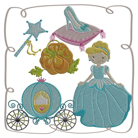 Princess with the Glass Slipper: Embroidershoppe