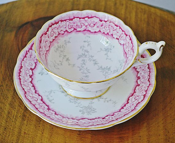Vintage Coalport Cup And Saucer Pink Teacup And Saucer Gift