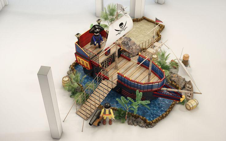 Playmobil installation visualisation