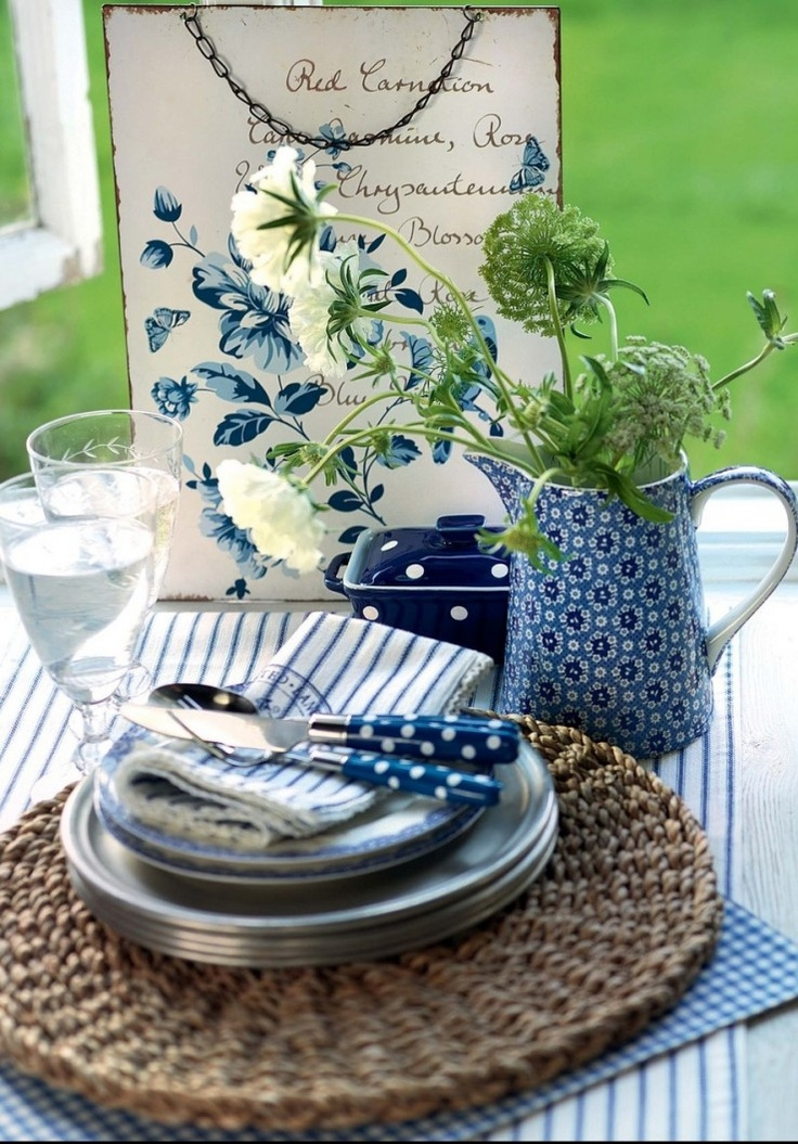 GreenGate ~ love the green & blue together