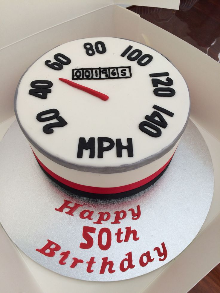 Speedometer cake