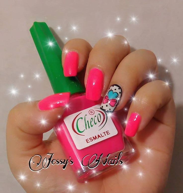 #nails #nailart #uñas #decoradas #corazones #sanvalentin #tiernas #bonitas #moño #heartnailart