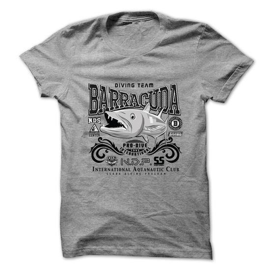 Diving Team Barracuda T Shirts, Hoodies. Get it here ==► https://www.sunfrog.com/Fishing/Diving-Team-Barracuda.html?57074 $19