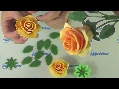 Fondant roses tutorial (Drátkování růží, dortové růže)