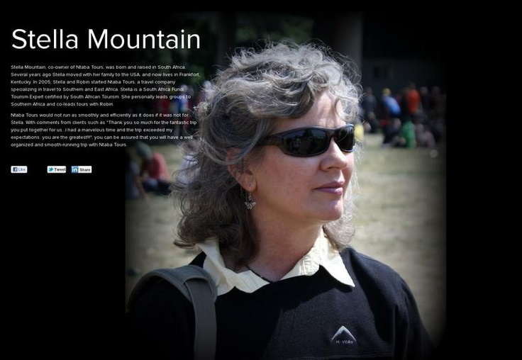 Stella Mountain - Co- Owner of Ntaba Tours - www.ntabatours.com