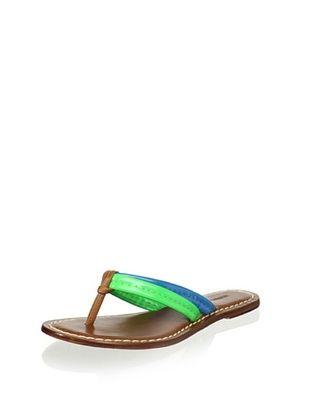 60% OFF Bernardo Women's Miami Thong Sandal (Green/Blue/Pecan)
