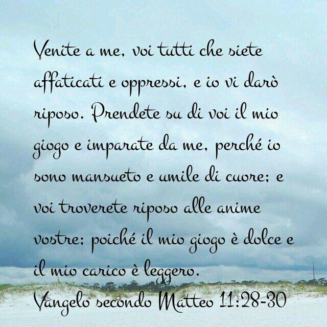 Matteo 11: 28-30