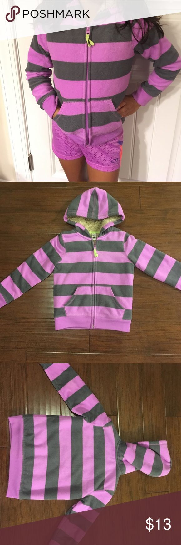 OLD NAVY FLEECE JACKET Old Navy hooded fleece jacket.   Very soft fleece jacket for pre-winter temperatures. Some stains on the cuffs. See pic 4. Some pilling on cuffs but not noticeable.   DON'T FORGET TO BUNDLE 😊  Offers are welcomed. I negotiate. Ask any questions before purchasing. Old Navy Jackets & Coats