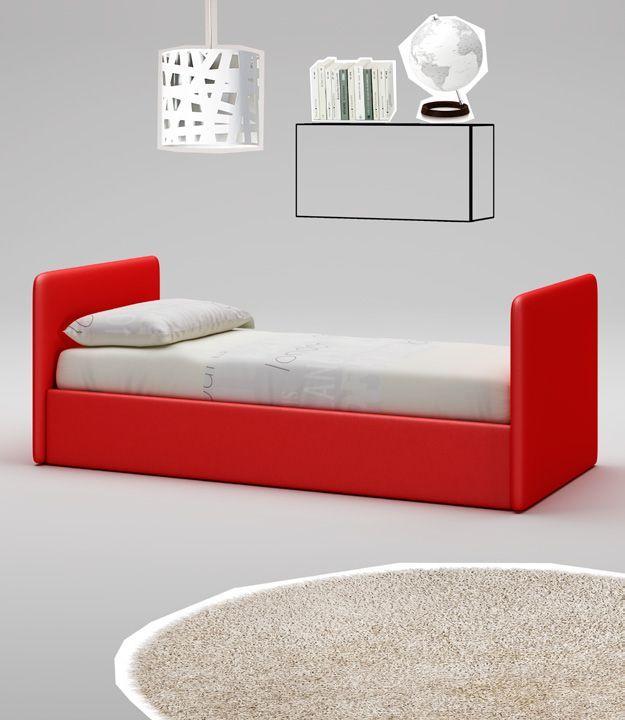 Диван-кровать ярко-красного цвета Moretti Compact WL072-662