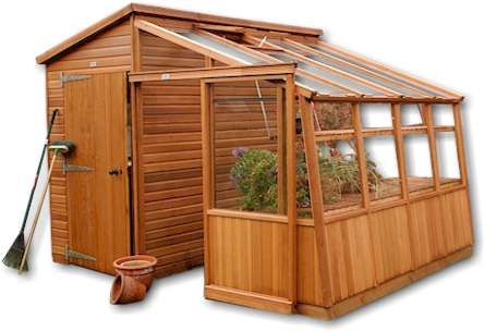 Garden Retreat Cedar Greenhouse & Potting Shed - 10'0 Wide x 11'0 Long (3657 x 3350mm)