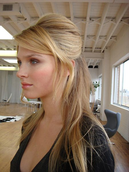 straight wedding hairstyles