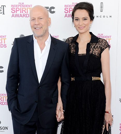 Bruce Willis says his wife Emma Heming is especially understanding about his onscreen romances..