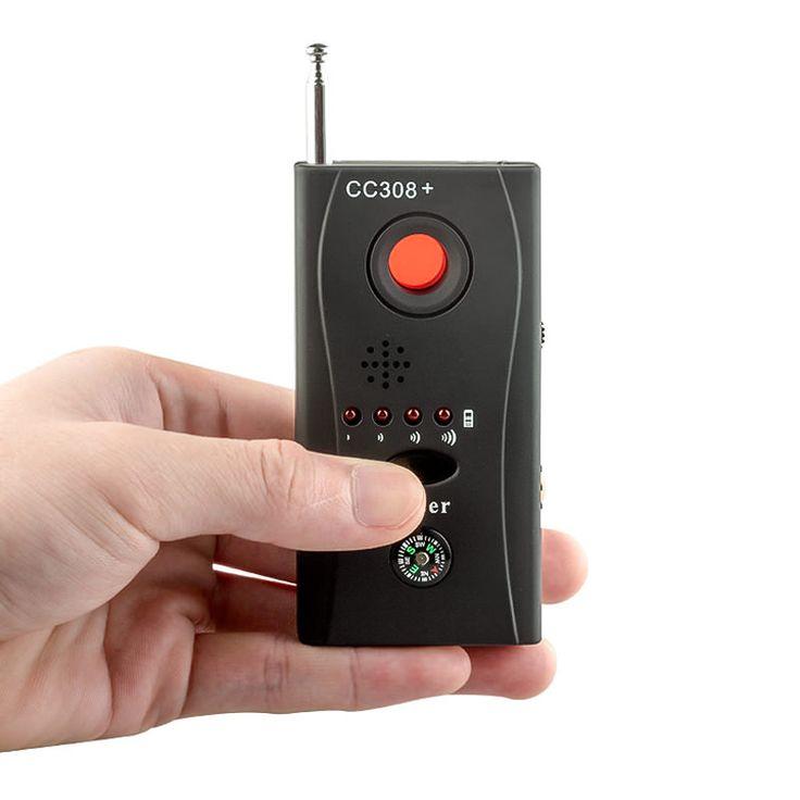 CC308 Wireless FNR de frecuencia Completa Detector Cámara Oculta GSM Buscador Device Lser Lente Anti-Insecto Del Espía Detecter RF Detector de señal
