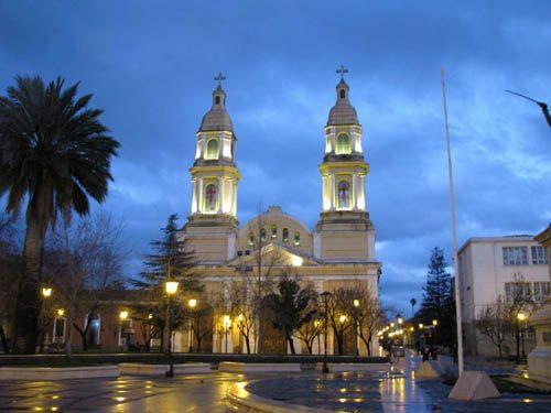 Plaza Central de Rancagua, Chile.  Main square of Rancagua. Chile.