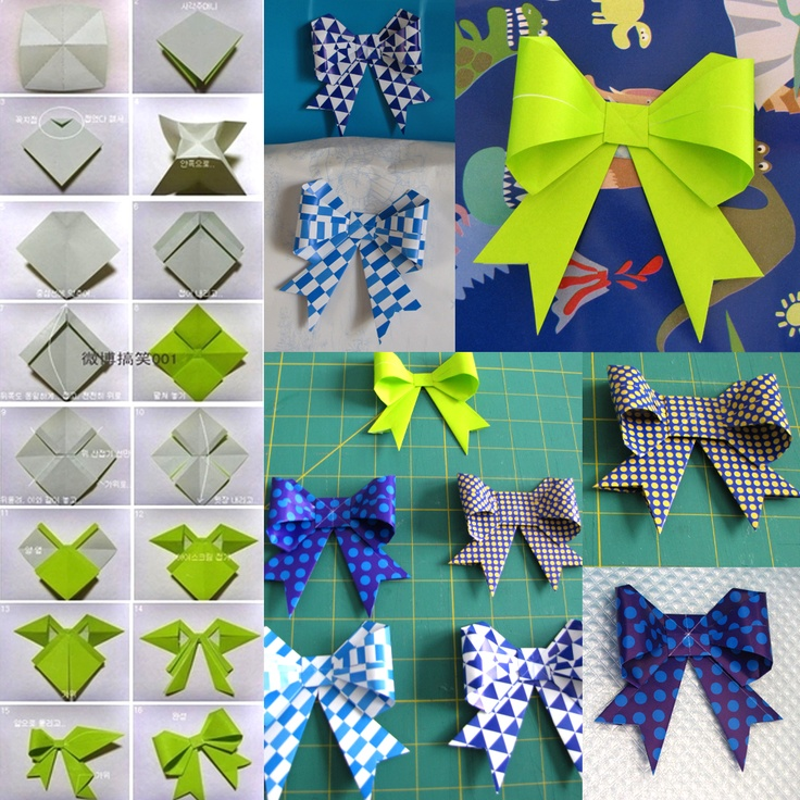boogie beans origami bows paper ribbon craft
