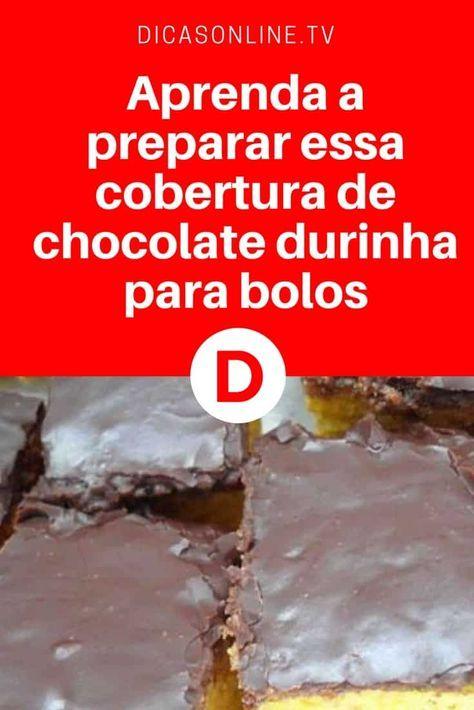 Cobertura de chocolate bolo | Aprenda a preparar essa cobertura de chocolate durinha para bolos | Seu bolo vai ficar incrível com essa cobertura
