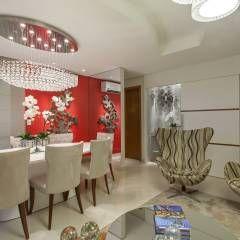 Apartamento Ribeirão Preto: Salas de estar modernas por Designer de Interiores e Paisagista Iara Kílaris