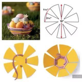 Подарок на пасху своими руками корзинка для яйца из бумаги