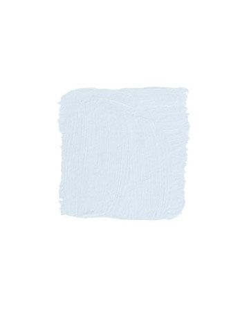"""I don't know where I'd put this color but I LOVE it. MURALO PAINTS DAYDREAM P380: """"I was looking for a color that was as honest as E.B. White and as inspiring as Carl Sandburg, and it took me ages to find. This is the color of a deep breath in early spring, a true gray-blue, like the gutters in Paris. It dries lighter than it looks in the can. And this is the genius of it — it never feels cold, even in the north light of Maine."""" -Mallory Marshall"""