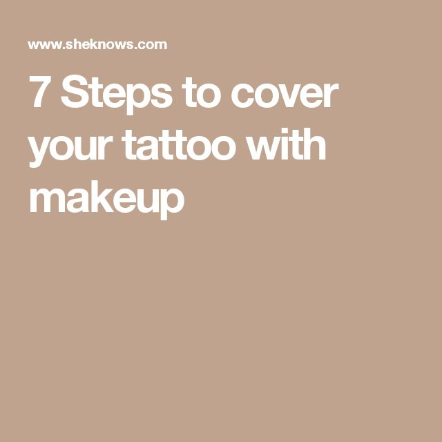 7 Steps to cover your tattoo with makeup