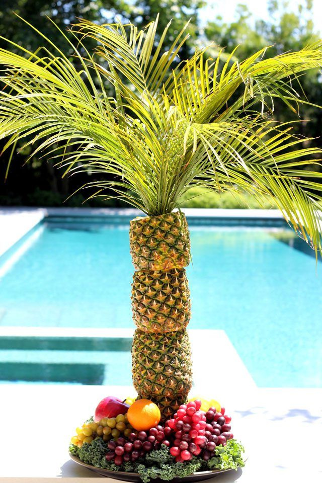 How to Make a Pineapple Palm Tree for a Serving Tray | eHow