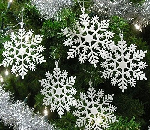 #Set #Snowflakes #Ornament 4 Inch #Holiday 20 #WHITE #Pearlized #Glittery #Finish #NEW #SetSnowflakes