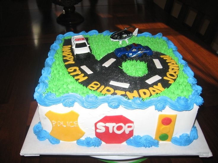 Police Car birthday cake — Children's Birthday Cakes