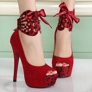 Sapatos de plataforma Sandálias peep toe moda casamento vermelho saltos finos mulheres de salto alto de impressão sapatos único leopardo bombas FS119 23.99