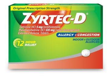 Zyrtec-D Tablets   Allergies Allergy relief Allergy medicine