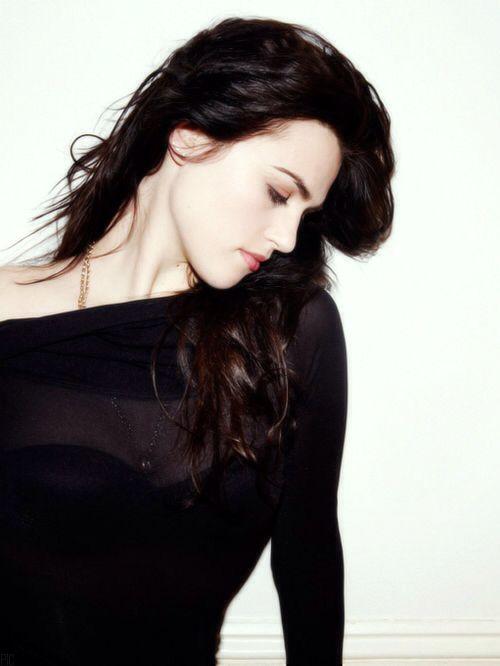Pale skin, dark dark hair is perfection.