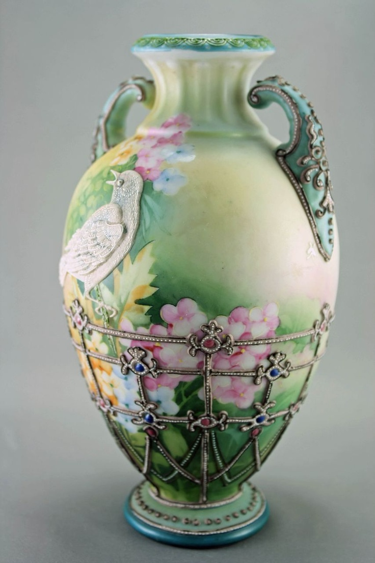 189 best chinavases urns and ceramics images on pinterest vintage vase w bird reviewsmspy