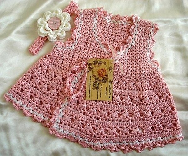Robes - Modèles pour Bébé au Crochet: Crochet Baby Dresses, Crochet Blouses, Baby Baby, Baby Girls, Baby Clothing, Wraps Dresses, Crochet Patterns, Baby Wraps, Beautiful Crochet