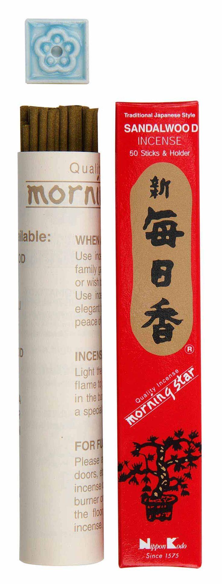 Japansk røgelse - Morning Star - Sandal wood
