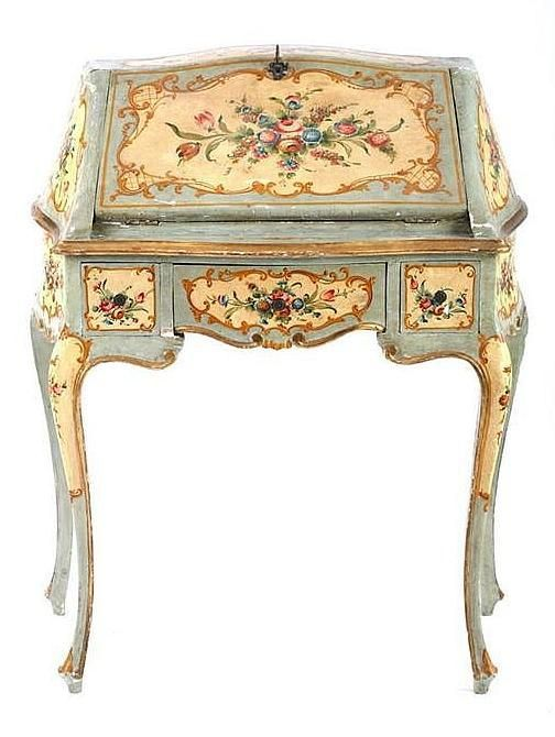 Century Painted Desk ~ Italy ~ Sold at Artfact Auctions - Best 25+ French Desk Ideas On Pinterest Victorian Home Office