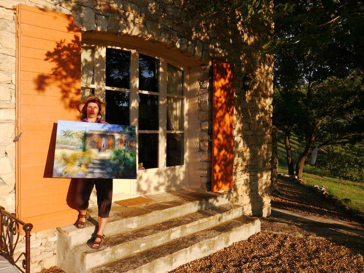 Ute Herrmann malt Plein Air  in der Provence | Ölbilder direkt in der Landschaft entstehen zu lassen hat einen besonderen Reiz. Das Licht, die Farbigkeit, nicht zu vergessen, das Lebensgefühl - das kann man tatsächlich nur vor Ort einfangen | Mehr Bilder der Künstlerin unter: www.ute-herrmann-kunstmalerin.de #Ölgemälde #oilpainting #provence