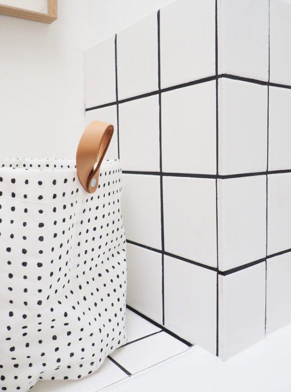 Carreaux Blanc Joints Noirs Bathroom Design Layout Bathroom