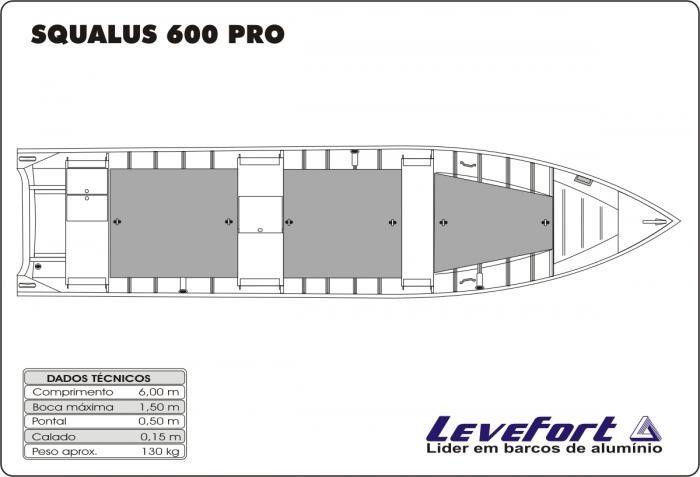 BARCO DE ALUMINIO LEVEFORT SQUALUS 600 CAST PRO
