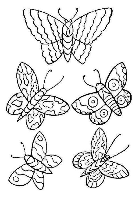 vlinder3 topkleurplaat nl dieren kleurplaten