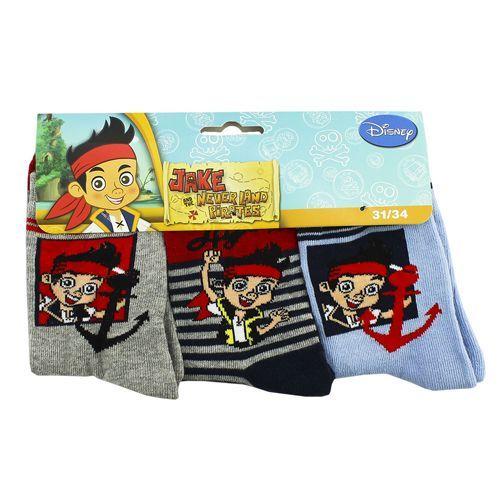 Disney 3-Pack Jake and the Never Land Pirates Kindersokken (Grijs, Navy en Lichtblauw) #disney #jakeandtheneverlandpirates #kindersokken #sokken #sokjes #kindersokjes