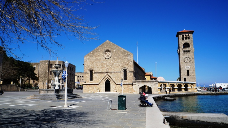 Rhodes Island Greece - The church of the Annunciation - The town's cathedral