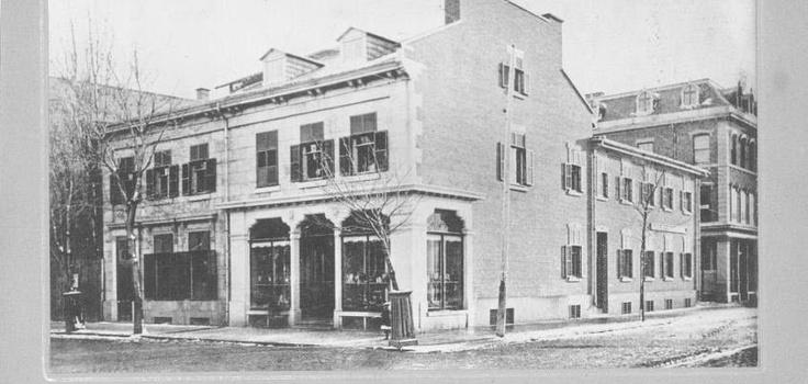 Corner of Square Phillips in Montreal, 1883