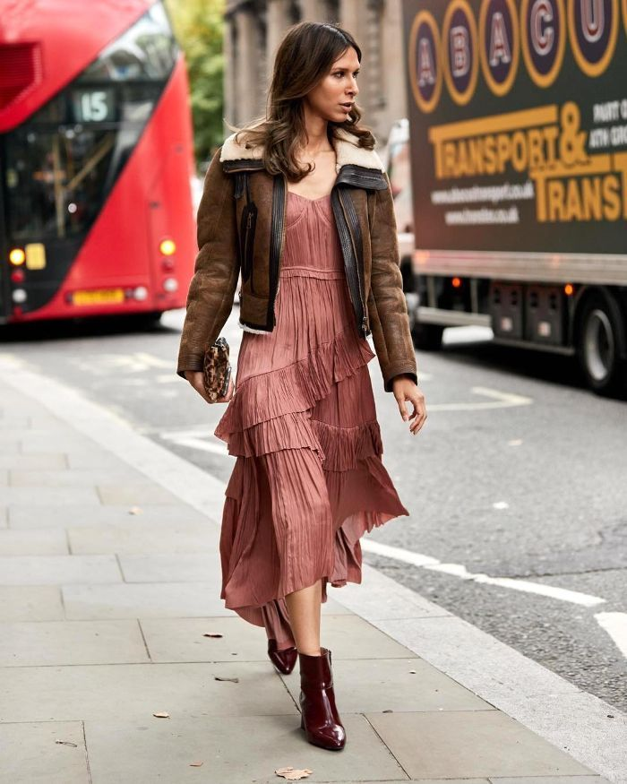 b26f7fe71 15 Cool Outfit Ideas With Brown Leather Jackets in 2019 | Street ...