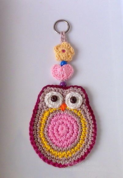 LINDO ENFEITE DE PAREDE: For Bedrooms, Búho Crochet, Crochet Crafts, Cute Owl, Art Ems, Crochet Patterns, Crochet Owl, Crochet Keychains, Ems Crochet