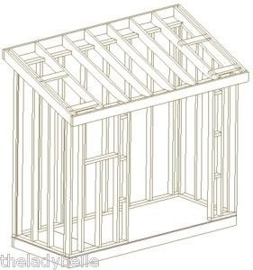 12x16 Shed Plans Slanted Roof Sheds Out Buildings