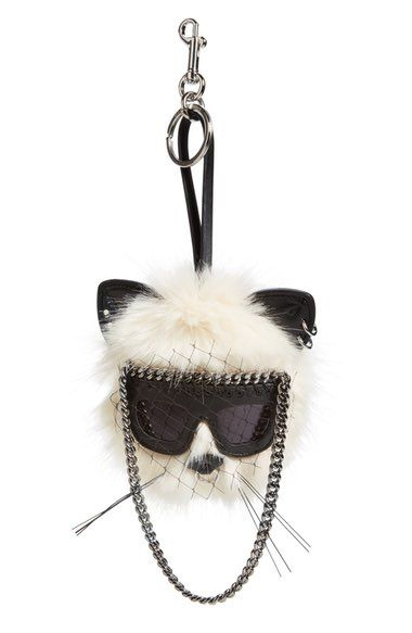 Stella McCartney Cat Bag Charm available at #Nordstrom http://amzn.to/2k2HTMQ