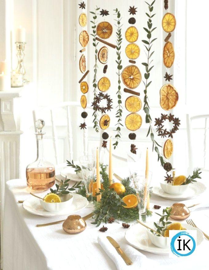 Machen Sie eine Girlande aus Zitrusfrüchten für die Feiertage | Sisustus, Joulukoristeet